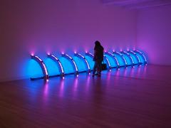 Light as Art (pilechko) Tags: massmoca light art installation color gallery museum person