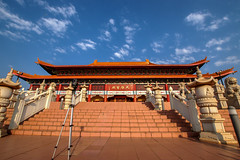 Nan Hua Temple, Bronkhorstspruit (Paul Saad) Tags: bronkhorstspruit chinese johannesburg pretoria nikon colors architecture temple nan hua buddha room chandelier wood flickr