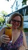 Enjoying A Pimm's Cup At The Chequit (Joe Shlabotnik) Tags: galaxys5 shelterisland sue august2017 2017 chequitinn cameraphone justsue