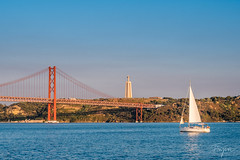 Lisbon I (-finguin-) Tags: lisbon portugal sailing boat river bridge suspensionbridge fujifilm xt20 sunset dusk sun summer travelling travel europe 2017 lissabon boot fluss brücke sunny
