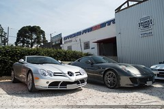 SLR & GTO (Andre.Siloto) Tags: mercedesbenz mercedes slr mclaren v8 ferrari 599 gto v12 grigio silverstone ctbaexotics d3200 nikon curitiba ctba cwb paraná pr brasil brazil bra br