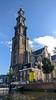 Canoeing in Amsterdam, Westerkerk (jbdodane) Tags: amsterdam canal canoe church europe jordaan netherlands westerkerk