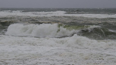 Hurricane Surf (brucetopher) Tags: storm hurricane surf dangerous windy wind gale tropicalstorm blow gusts winddriven beach waves power force forceful wash breakers loud ocean sea rough hazardous cloudy