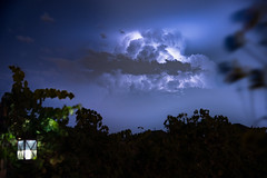 Dying Thunderstorm's Last Gasp (sethjschubert) Tags: night sky thunderstorm weather clouds nature