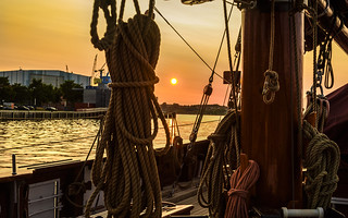 Wismar - Golden Hour On The Atalanta
