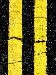 Yellow II (Sean Hartwell Photography) Tags: yellow lines doubleyellowlines noparking abstract black cracked weathered roadmarkings road line