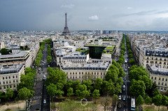 View across Paris (Sö. La. Li.) Tags: 2016 aerialview arcdetriomphe ausland availablelight cities city countries foreigncountries fotografie france frankreich international lespaysétrangers lieux länder nikon orte paris pays places reisen soenkelarslinnemann stadt städte travel triumphbogen umgebungslicht urlaub ville villes voyage