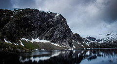 Djupvatnet Lake, Norway (throzen) Tags: norway europe landscape outdoor outdoors outside views nature canon 700d eos mountains hills reflections polarizer lake mountain water