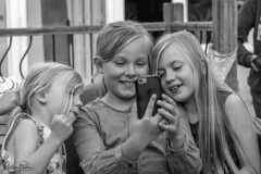 Kids at play! (mattpacker1978) Tags: blackandwhite bw beautiful black nocolour phone iphone playing silly faces fun family love life enjoying summer garden home dorset canon canon700d canondigital canonphotography canonlife