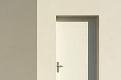 White door, corner and shadow (Jan van der Wolf) Tags: map158204v monochrome monochroom door deur white wit shadow composition compositie minimalism minimalistic minimal minimalisme minimlistic corner hoek building gebouw