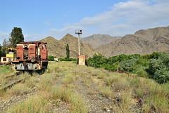 Former station Meghri near Iran border, in right is iron curtain borderline - MEGHRI - ARMENIA (Rostam Novák) Tags: iran railways ironcurtain border armenia station former