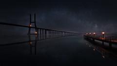 BRIDGE VASCO DE GAMA, CREATIVE (sgsierra) Tags: bridge puente lisbon lisboa portugal europa europe creative photoshop night noche
