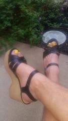 20170803_071521 (2moshoes) Tags: clog clogs backstrap nailpolish male man malefeet sandals platform polish wood swedish strappy
