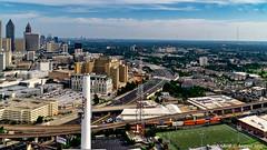 Atlanta, GA: Grady Curve of Interstate 75/85 (nabobswims) Tags: aerialphotography atlanta downtown georgia gradycurve hdr helicopter highdynamicrange i75 i85 interstate75 interstate85 lightroom nabob nabobswims photomatix sel18105g skyline sonya6000 us unitedstates