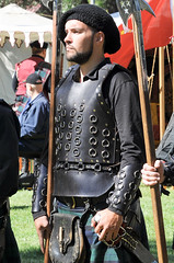 Scottish Halberdiers (GazerStudios) Tags: halberds weapons armor men hats beards warriors scottish celtic kilts livinghistory costumes black guards renaissance 15thcentury leather historicalreenactment berets crochet sporrans bracers portraits 55300mm nikond90
