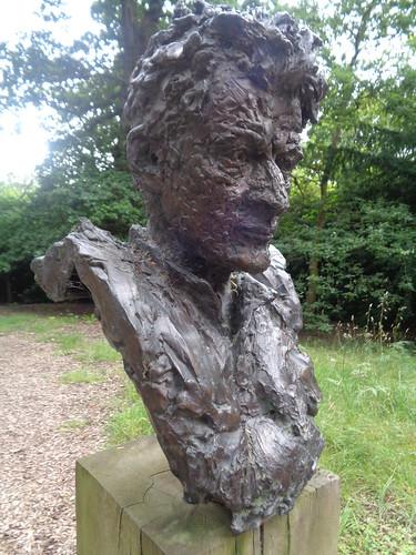 Angela Conner Bust Sculpture, Chatsworth House, Derbyshire