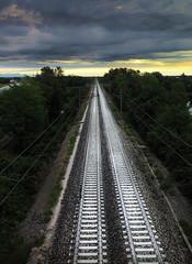 Train of thoughts (Robyn Hooz) Tags: treno padova binari nuvole cielo travel trip parallel nowhere thoughts pensieri away