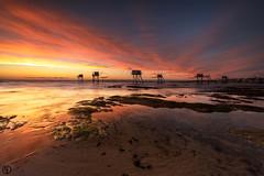 Beach sky... (Grégory Dolivet) Tags: sunset sun beach sea seascape serenity sky cloud plage ciel nuage paysagemarin tharon soleil mer pecherie wildcoast cotesauvage rock rocher reflection gnd16 cpl nikon afs 1424 f28