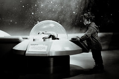 Bruno in Outer Space (Diggoar) Tags: starwars legoland lego child children portrait bw sciencefiction future fujifilm xpro2 xf35mmf2