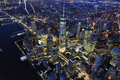One World FLYNYON (mpelleymounter) Tags: newyorkskyline newyork manhattan oneworldtradecentre worldtradecentre wtc freedomtower flynyon doorsoffhelicopter helicopter financialdistrict hudsonriver manhattanbridge usa nyc ny