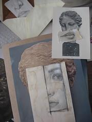 On a tous plusieurs visages ! (nathalielaboisdebesson*) Tags: dessin drawing decoupage papier portrait faces f