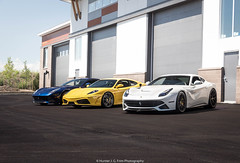 Lineup (Hunter J. G. Frim Photography) Tags: supercar colorado ferrari f430 v8 italian black yellow giallo nero coupe ferrarif430 hre f12 berlinetta v12 tdf blue white bianco blu tour de france adv1 ferrarif12 ferrarif12berlinetta blutourdefrance tdfblue