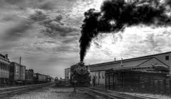 "(Light Echoes) Tags: sony a6000 25mm hdr 2014 summer august pennsylvania ronks strasburg strasburgrailroad railroad train steamengine locomotive bw blackandwhite ""sonyflickraward"