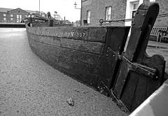 National Coal Board Barge No 337. (wontolla1 (Septuagenarian)) Tags: ellsmere port mersyside canal boat barge national museum waterway waterways coal board mono monochrome blackwhite black white