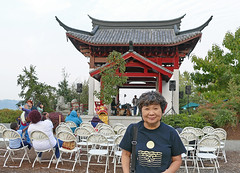 Theresa Pan with the Fuzhou Ting (Liz Satter) Tags: tacoma tacomamoonfestival moonfestival chinesereconciliationprojectfoundation chinesereconciliationpark rustonway southsound piercecounty pnw wa waterfront culture fuzhouting