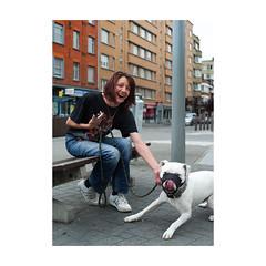 ... (jean76_58) Tags: pentax portrait streetportrait street photography regard monotone urbain urban people streetphotography streetphotographia streetdog liège
