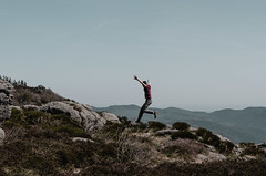 Jumping in (- m i l i e d e l -) Tags: 2017 forestiaselection france miliedel nature occitanie southoffrance balade explore hike printemps south spring sun wandering