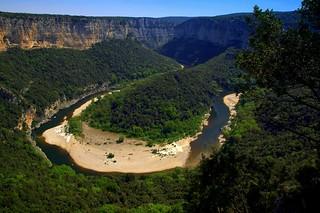 Horseshoe canyon of Ardeche