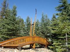 Timber Construction ... (Mr. Happy Face - Peace :)) Tags: trees nature htmt scenery hiking lake cottagecountry cans2s autumn summerending canada150years art2017 hff fence railing timber wood