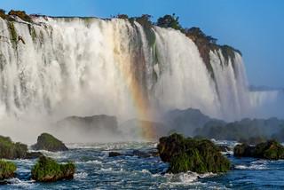 Partial rainbow over Foz de Iguacu. Parana, Brasil