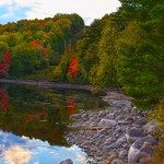 Lake Placid New York  ~ Ausable River at Franklin Road Bridge thumbnail