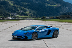 Aventador S P740-4 (Nico K. Photography) Tags: lamborghini aventador s lp7404 blue supercars airfield nicokphotography switzerland ambri