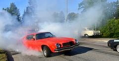 Burning rubber. (Papa Razzi1) Tags: 9375 2017 238365 burnout smoke camaro chevy rubber grandprixraggarbil2017 summer august vega sweden carmeet