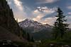 Mt Rainier Sunset from Cliff Lake Saddle (explorer_ron) Tags: backpacing backpack clifflake hike hiking mountrainier mtrainier offtrail pinnaclepeaktrail plummerpeak tatoosh