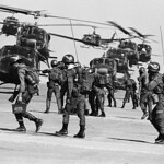 Vietnam War 1966 - Vietnamese Rangers Loading Helicopters thumbnail