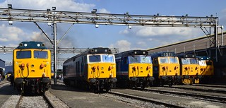 Class 50s 50007 50017 50026 50044 50049 D400  Old Oak Common Open Day 2 Sept 2017