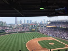 """Wrigley Field Cubs vs. Blue Jays • <a style=""""font-size:0.8em;"""" href=""""http://www.flickr.com/photos/109120354@N07/36850301135/"""" target=""""_blank"""">View on Flickr</a>"""