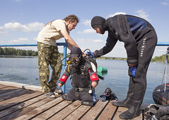 0812_05 (KnyazevDA) Tags: disability disabled diver diving amputee underwater wheelchair