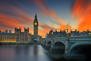 Big Ben red sunset
