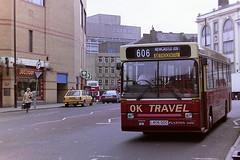 OK TRAVEL BISHOP AUCKLAND L406GDC (bobbyblack51) Tags: ok travel bishop auckland l406gdc volvo b650 plaxton pointer newcastle 1995