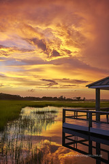 Atlantic Beach Sunset (Valley Imagery) Tags: atlantic beach nc usa water reflection dock sunset jetty sony a99ii palm suites