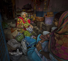 market store (Albert Photo) Tags: bluecity india indianrajasthan outdoor streethawker alley market oldtown oldlady woman