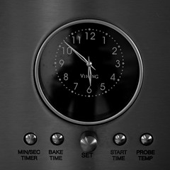Viking (ramseybuckeye) Tags: stove clock timer dial buttons metal black white viking oven