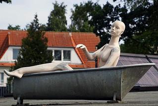 Badetag auf dem Dach
