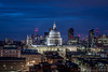 St Paul's Cathedral (Daniel Coyle) Tags: stpaulscathedral stpauls cathedral ludgatehill cityoflondon tatemodern tate cityoflondonskyline cityoflondonatnight london longexposure londonnight londonskyline londonbluehour nikon nikond7100 night d7100 danielcoyle uk england barbican barbicancentre switchhouse viewinggallery view viewpoint cityviews londonviews dusk londondusk bluehour cityskyline citylights nightshot nightphotography nightonearth