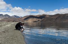 Pangong (@nikondxfx (instagram)) Tags: 2017 d750 jk june ladakh landscape leh nikkor nikon tamron tourism tourist travel pangong lake azure water crystal clear sand pebble girls reflection
